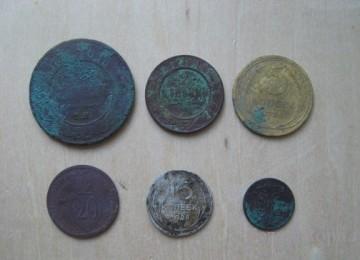 Чистка старинных монет в кефире