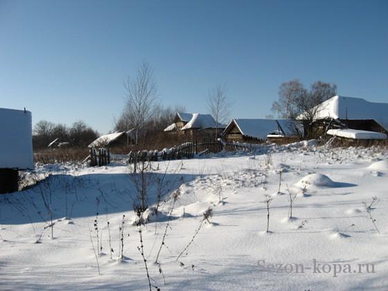 Деревня покинутая недавно